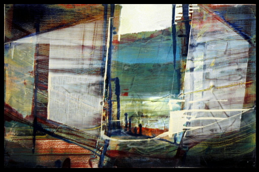 "James Lavadour: structures in landscapes (panel from ""River"")"