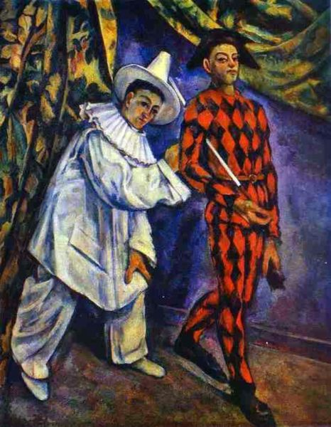 466px paul cezanne  pierrot and harlequin Clowns always speak of the same thing, they speak of hunger; ...