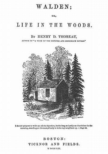 henry david thoreau why i went to the woods Henry david thoreau study guide in moving to the woods, thoreau sought to discover the true necessities of life and built a cabin, for the cost of $28 12 _ near walden pond, where he lived for two years, beginning in the summer of 1845.