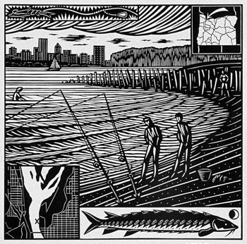 Dennis Cunningham's Willamette White Sturgeon. He was a Mississippi Mud artist.
