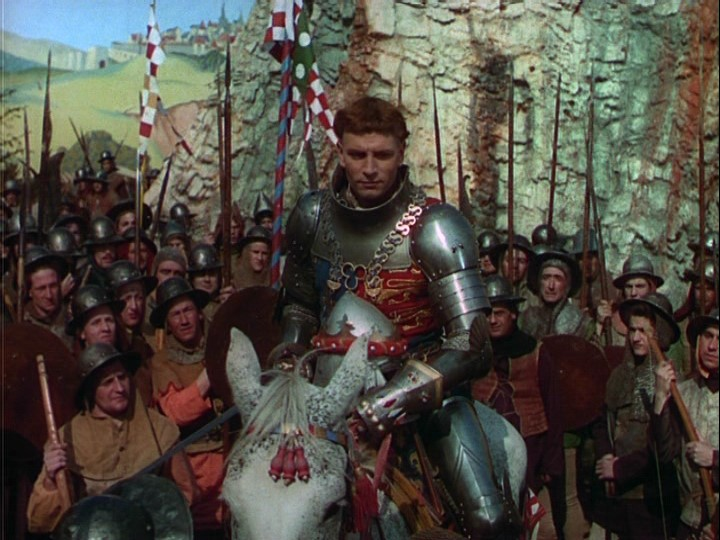 Lawrence Olivier in the Criterion DVD version of Henry V