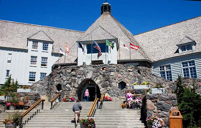 Timberline Lodge, funded by the WPA/Wikimedia Commons