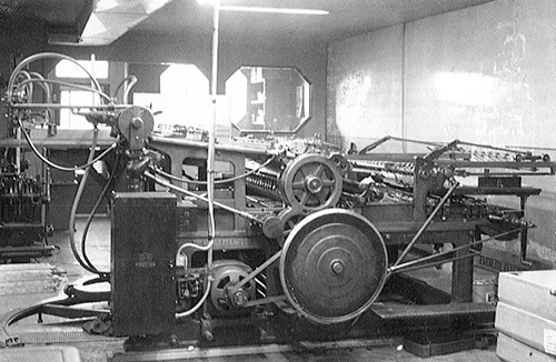 Miehle Newspaper Press at the Provost News in the '60s