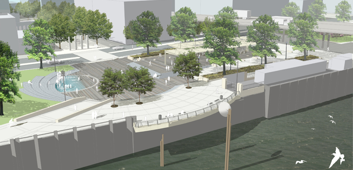 The Walker Macy design for Waterfront Park