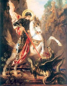 St. George slaying the dragon/Gustave Moreau/Wikimedia Commons