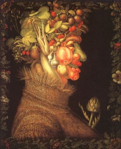 "Giuseppe Arcimboldo, ""Summer,"" 1573, Louvre/Paris. Wikimedia Commons"