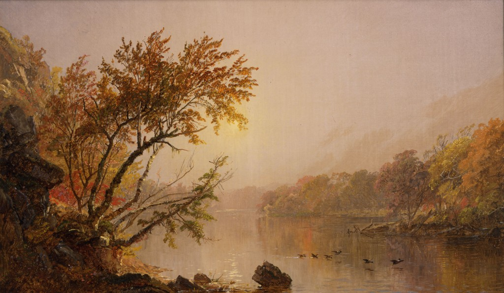 Jasper Francis Cropsey, Misty Afternoon, 1873. Collection Dr. Michel Hersen & Mrs. Victoria Hersen