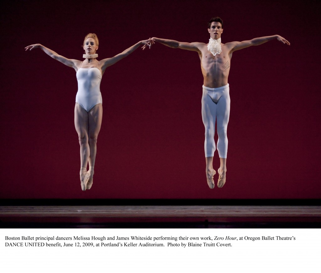Melissa Hough, James Whiteside, Boston Ballet. Photo: BLAINE TRUITT COVERT