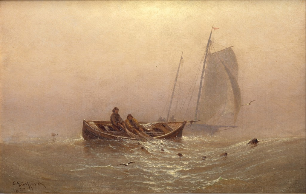 Charles Henry Gifford, Handling Nets, 1867. Photo: PAUL FOSTER