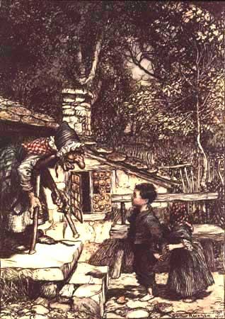 Hansel and Gretel, illus. Arthur Rackham, 1909. Wikimedia Commons