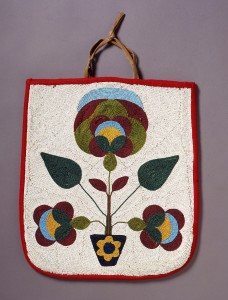 Columbia Plateau beaded bag, ca. 1900-20. Coll. Arlene and Harold Schnitzer