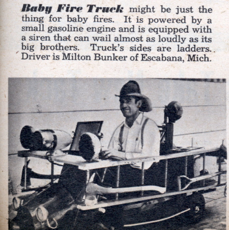 Baby Fire Truck (Jan, 1952), Mechanix Illustrated