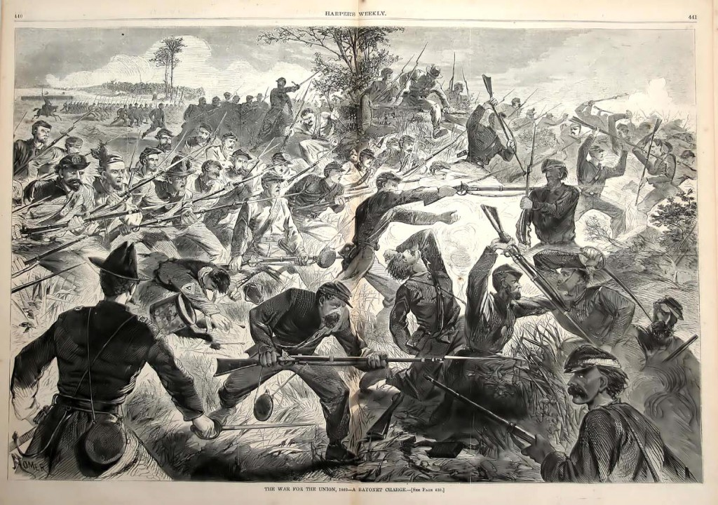 Winslow Homer, Bayonet Charge, Harper's Weekly, 1862/Wikimedia Commons