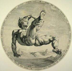 Icarus, engraving, Hendrick Goltzius/Wikimedia Commons