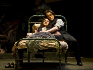 Kelly Kaduce as Mimi and Arturo Chacon-Cruz as Rodolfo in La Boheme. Photo: Portland Opera