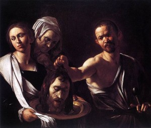 """Salome With the Head of John the Baptist,"" Caravaggio (157-1610), from Web Gallery of Art / Wikimedia Commons"