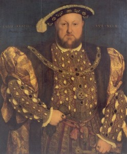 Portrait of Henry VIII by unknown artist in the manner of Hans Holbein the Younger, ca. 1540