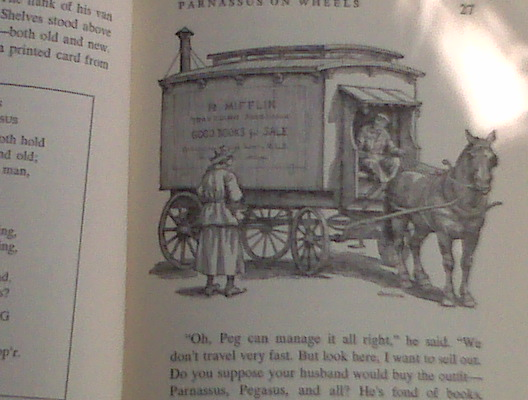Parnassus on Wheels, by Christpher Morley, illustrated by Douglas Gorsline