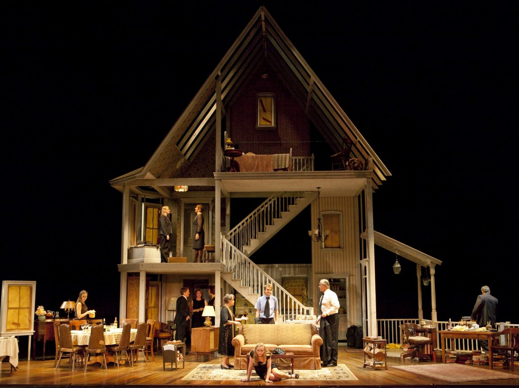"A huge old house of horrors: The set for Steppenwolf's ""August: Osage County."" Family matriarch Estelle Parsons is at center. Photo: Robert J. Safferstein"