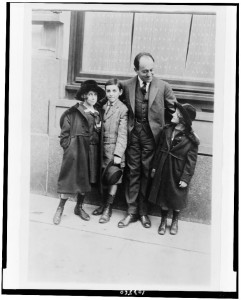 Ernest Bloch and children; date unknown. Wikimedia Commons