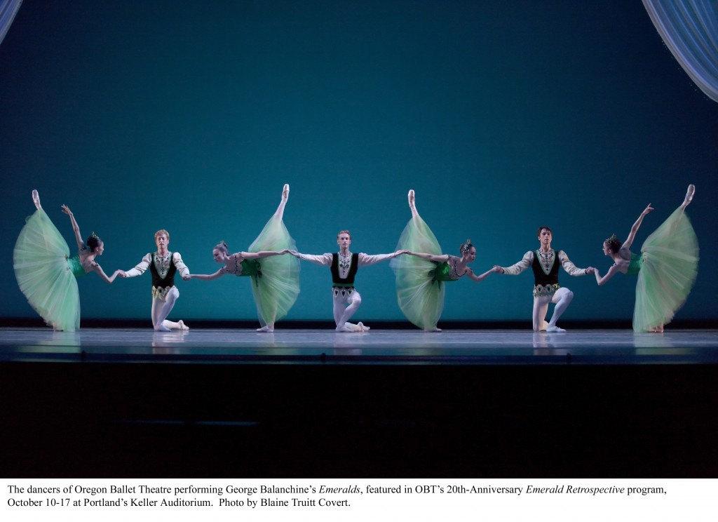 Balanchine's Emeralds at OBT. Photo: Blaine Truitt Covert