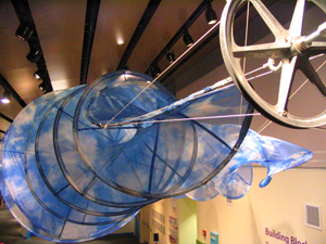 Mar Ricketts, spiral sculpture for museum project.