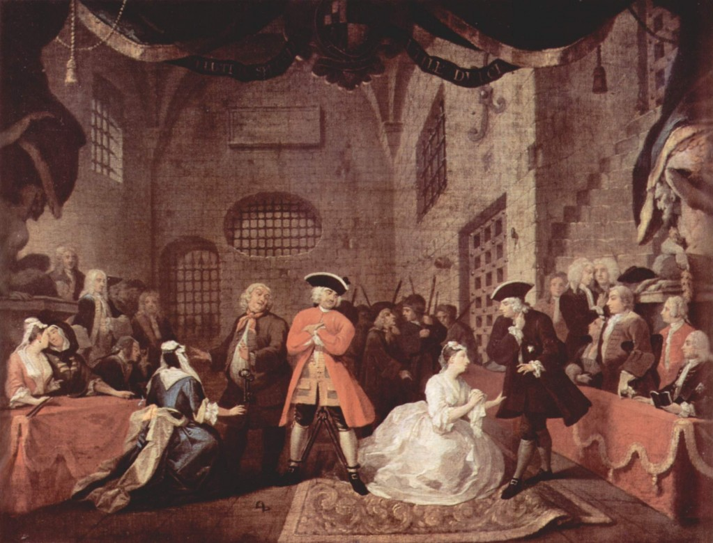 William Hogarth, scene from The Beggar's Opera, 1728. Tate Gallery/Wikimedia Commons