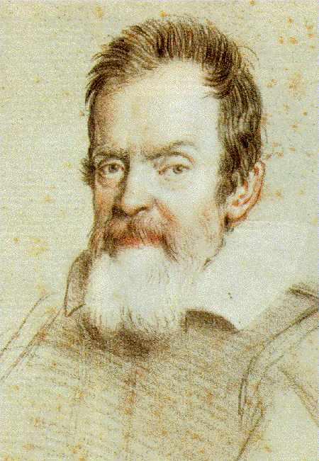 Crayon portrait of Galileo, by Leoni. Wikimedia Commons