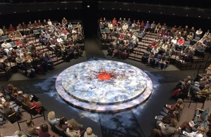 "The New Theatre, Ashland, arranged for ""Macbeth"" in 2002. Photo: David Cooper/Oregon Shakespeare Festival"