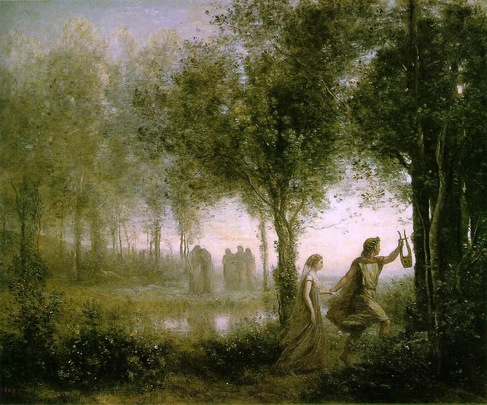 """Orpheus Leading Eurydice from the Underworld,"" Jean-Baptiste-Camille Corot, 1861. Museum of Fine Arts, Houston"
