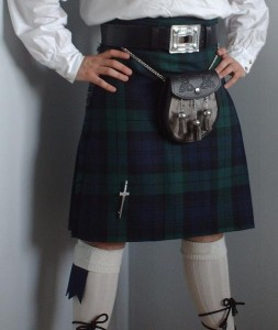 Black Watch kilt: Stylish, manly, and dig that purse in front. Wikimedia Commons