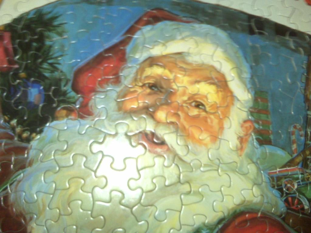 Santa Claus jigsaw puzzle (detail)