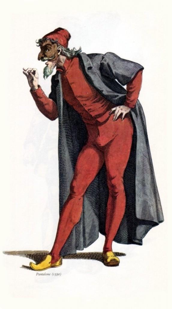 Pantalone in 1550. Illustration: Maurice Sand, 1860/Wikimedia Commons