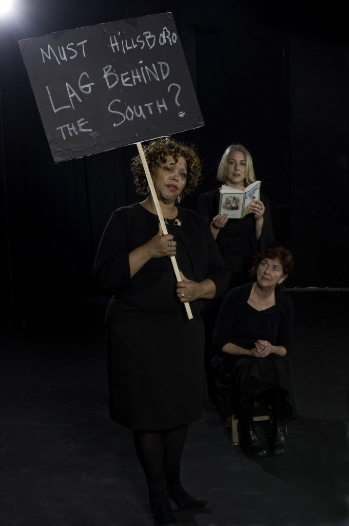"_LaVern Green, Paige Jones and Susan Banyas in ""The Hillsboro Story."" Photo: Julie Keefe"