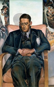 T.S. Eliot, painted by Wyndham Lewis, 1938. Wikimedia Commons