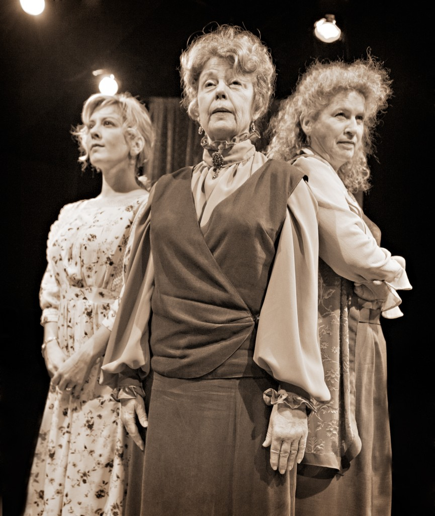 "From left: Val Landrum, Jane Fellows and Jacklyn Maddux in ""The Carpetbagger's Children"" at Profile Theater. Photo: Jamie Bosworth"