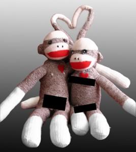 "Michele Rainier, ""Anatomically Exaggerated Sock Monkeys,"" Beet Gallery, Portland"