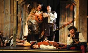 Gary Strong as Petronius and Jacob Morehead as Petruchio. Photo: Casey Campbell