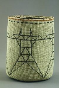"Joe Feddersen, woven basket, ""High Voltage"""