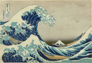 """The Great Wave Off Kanagawa,"" from ""36 Views of Mount Fuji,"" by Hokusai; between 1826 and 1833. Wikimedia Commons."