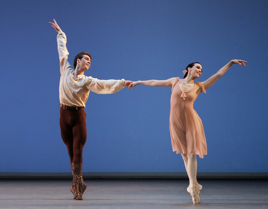 Jenifer Ringer and Gonzalo Garcia in Dances at a Gathering, New York City Ballet. Photo: ©Paul Kolnik