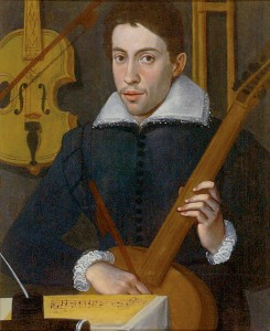 Claudio Monteverdi, circa 1597, by an anonymous artist, (Ashmolean Museum, Oxford). Thought to be the earliest known image of Monteverdi, at about age 30, painted when he was still at the Gonzaga Court in Mantua. Wikimedia Commons