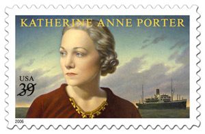 United States postage stamp, Katherine Anne Porter and the ship of fools