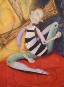 """Show Time,"" acrylic on canvas, Deborah Spanton/Onda Gallery"