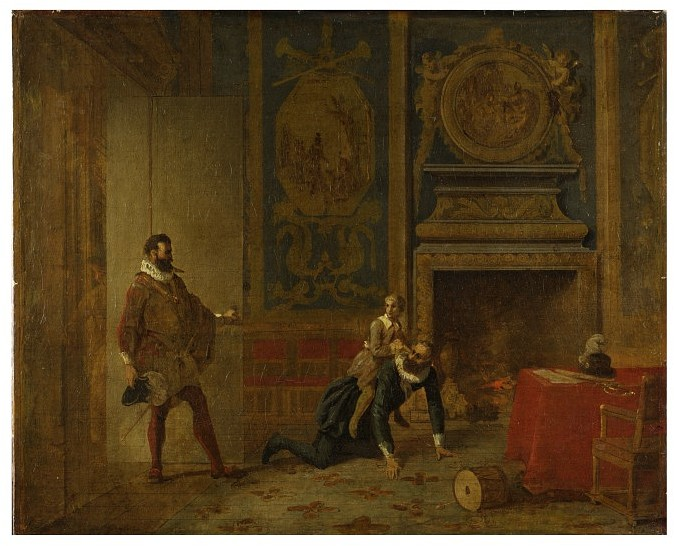 Henry IV, the Dauphin and the Spanish Ambassador/Victoria and Albert Museum