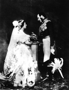 Queen Victoria and Prince Albert in court dress, about 1854/Wikipedia