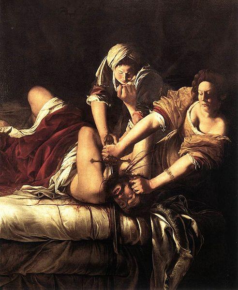 Judith Slaying Holofernes  (1614-20) Oil on canvas 199 x 162 cm Galleria degli Uffizi, Florence.