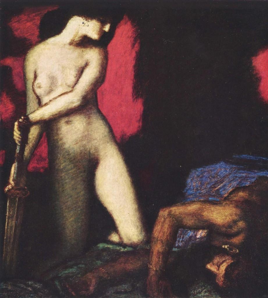 """Franz von Stuck, """"Judith und Holofernes,"""" 1927; 82 x 74 cm, Sammlung Heilmann, Munich."""