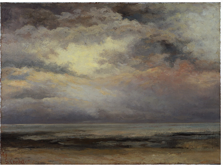 """Gustave Courbet, """"L'Immensite"""" (1869)"""