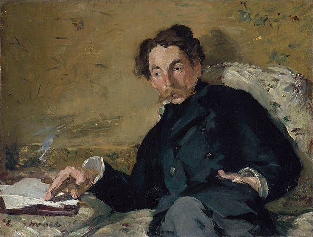 Stéphane Mallarmé. 1876. Edouard Manet (1832-1883). Oil on canvas. 11 x 14 inches. RMN (Musée d'Orsay)/Hervé Lewandowski.
